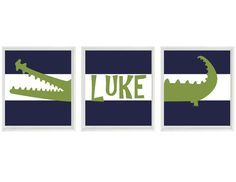 kids alligator decor - Google Search