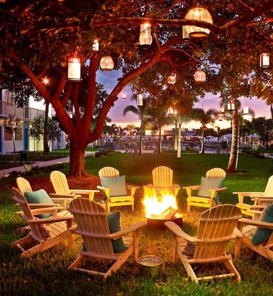 outdoor seating areas for the reception (and probably during photos)- fire pit, comfy chairs (Adirondacks, rockers and plush arm chairs) and of course s'mores