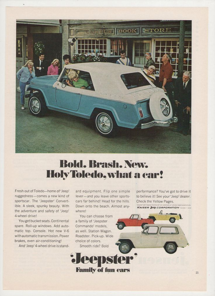 1967 advertisement jeep jeepster blue convertible retro for Garage ad agde