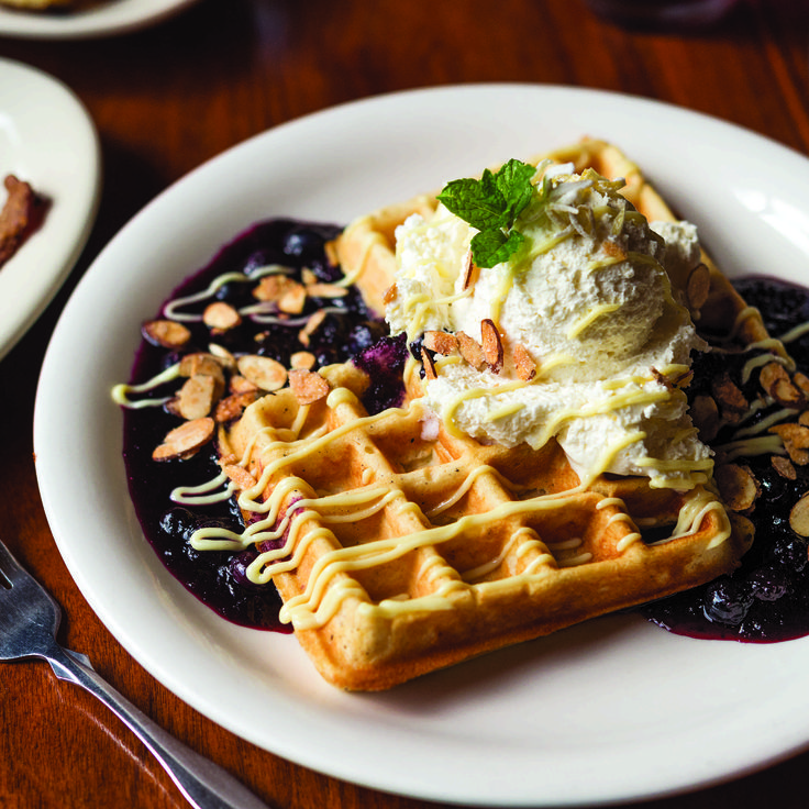 Lemon-Blueberry Waffles