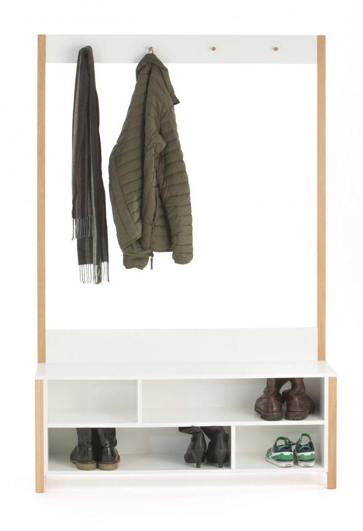 wieszak do przedpokoju Northgate #szafka #buty #obuwie #korytarz #przedpokój #hall #weranda #skandynawskie #meble #furniture #white #biała #drewno #wood #design #nowość #new #design #sandały #czółenka #szpilki #kalosze #shoes #trampki #wieszak #płaszcz #kurtka #zima #jesień