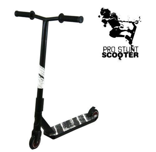 Black Pro Aluminum Stunt Kick Scooter