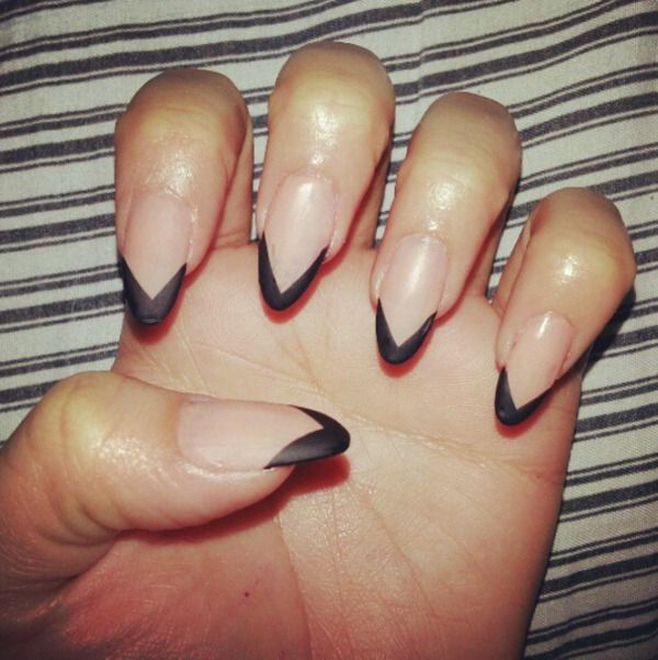 Different kinds of french tip nails