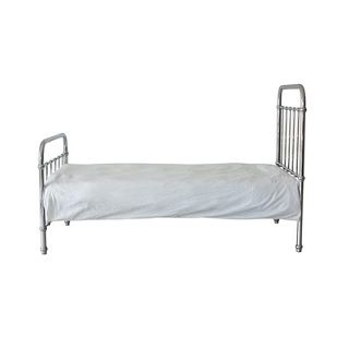 Thomas Single Bed A classical and timeless single bed.  Thomas comes in a gorgeous metallic silver colour.  Expertly crafted of sturdy and strong metal with simple curves.  $799.00 #sweetcreations #decor #nursery #baby #furniture #toddlers #kids