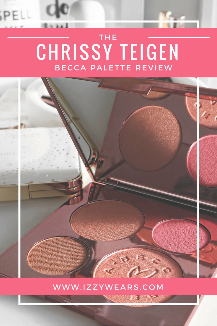 Chrissy Teigen Becca Glow Face Palette Review | Izzy Wears Blog - https://izzywears.com/blog/the-best-highlighters-for-a-natural-glow