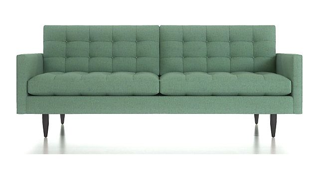 Petrie Midcentury Sofa Crate And Barrel Mid Century Sofa Tufted Sofa Mid Century Modern Couch