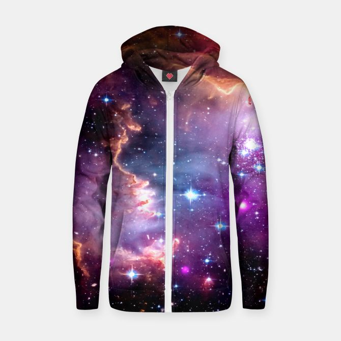 Deep Space Dream Cotton zip up hoodie, Live Heroes