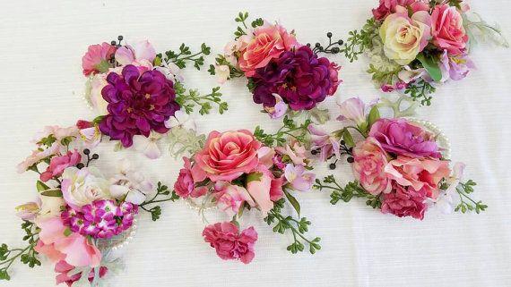 FLASH SALE - Wedding Corsage, Floral Corsage, Flower Corsage, Succulent Corsage, Corsage