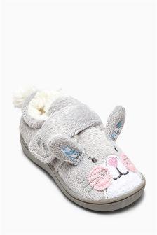 Grey Bunny Slipper (Younger Girls)