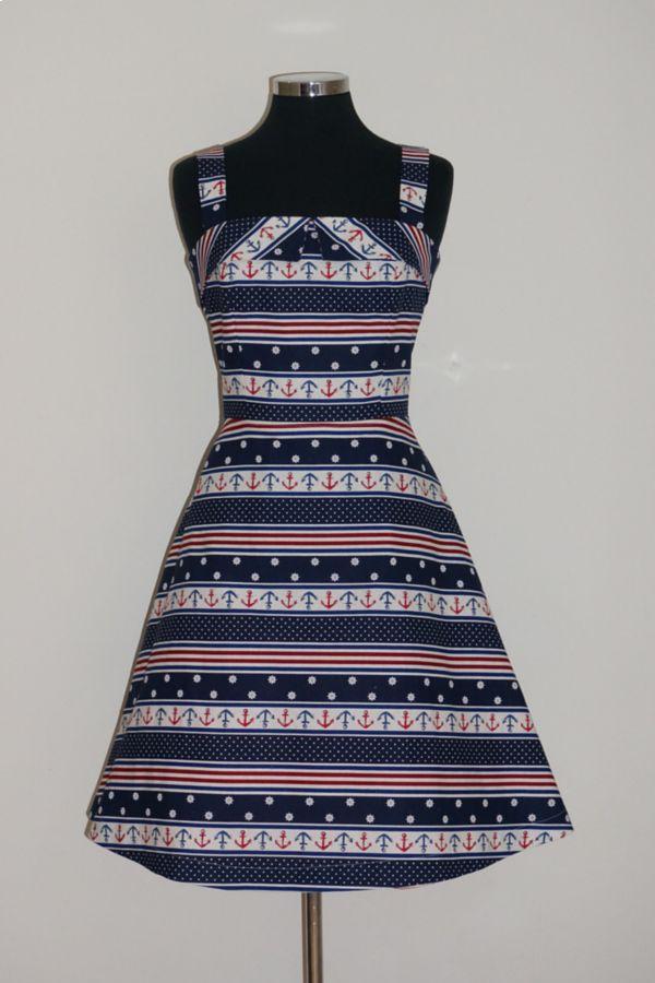 Peta Pledger Lucky Diamonds Dress in Nautical and Nice Print KITTY ROSE EXCLUSIVE!