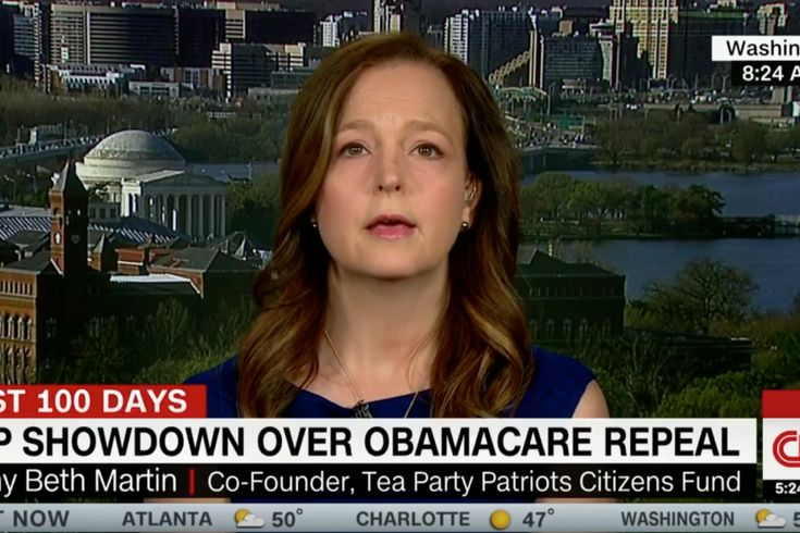 """Tea Party Patriots co-founder Jenny Beth Martin did not shy away from voicing her dissatisfaction with Republicans' new health-care proposal during her appearance Thursday on CNN's New Day. Martin, a longtime Tea Party leader and columnist for The Washington Times, was among those who met with President Trump on Wednesday night to discuss the American Health Care Act rolled out earlier this week. """"If it passes the way it is presented right now, the hardworking taxpayers of this ..."""