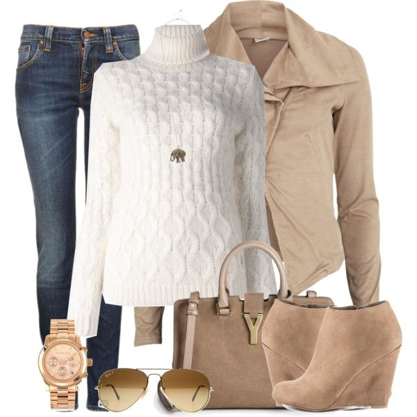 Featuring Corin - Taupe JustFab