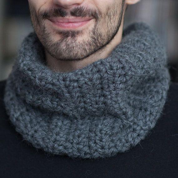 """Snood gris """"Douceur"""" - Bébé Alpaga - Crochet"""
