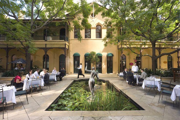 The Pav Bar's courtyard