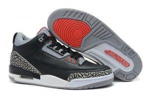 "designer fashion c969d 4a1a9 Air Jordan 3 Retro ""Black Cement"" Black Varsity Red-Cement Grey 2014"