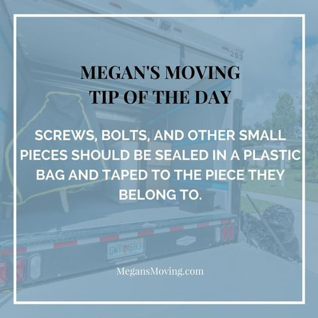 Tipoftheday Screws Bolts And Other Small Pieces Should Be