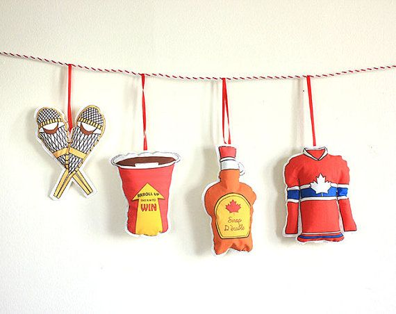 Christmas Ornaments- Set of 4 Canadian themed ornaments- hostess gift under  40 | My Canada | Pinterest | Christmas, Christmas Ornaments and Ornaments - Christmas Ornaments- Set Of 4 Canadian Themed Ornaments- Hostess