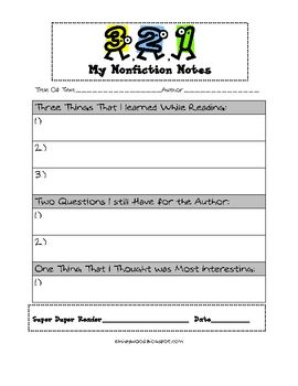 This is a great tool to help teach students how to summarize nonfiction.  This work by Elisabeth Haywood is licensed under a Creative Commons A...