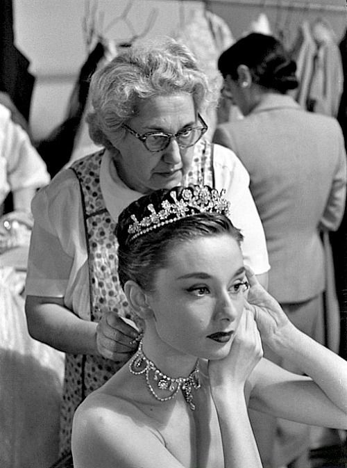 IT'S PG'LICIOUS — theniftyfifties: Audrey Hepburn on the set of...