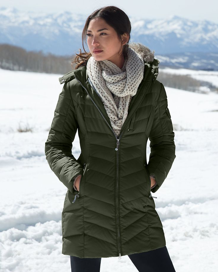 Ladies Full Length Down Filled Coats - Sm Coats