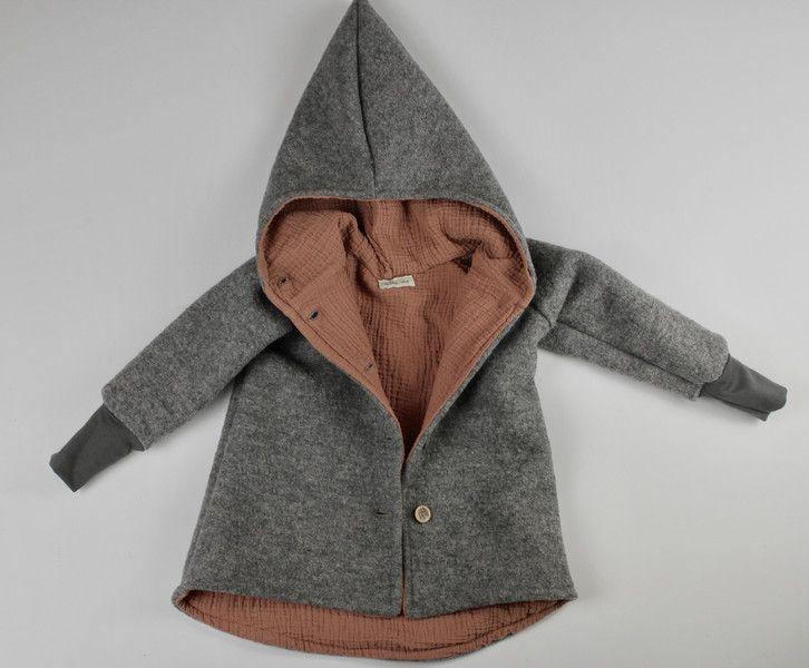 Jacken - Walkjacke Baby Kinder mit Musselin gefüttert - ein Designerstück von mini_me_berlin bei DaWanda