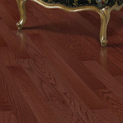 "Mohawk Randhurst SWF 3-1/4"" Solid Oak Hardwood Flooring in Red Cherry"