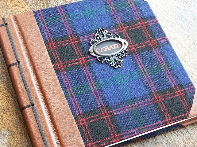 Tartan & Leather Guest Book £74.00
