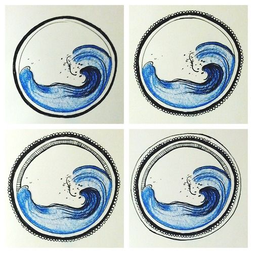 ocean wave tattoo  -morgan alessi