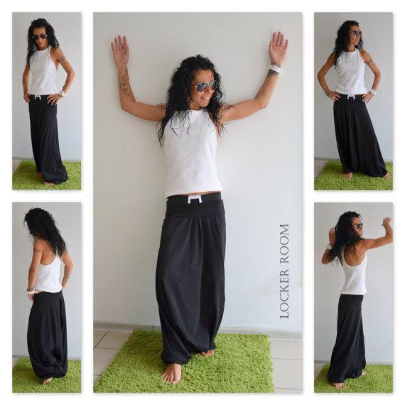 Plus size casual black pants