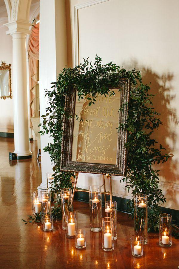 mirror calligraphy wedding signage | Danielle Nichol