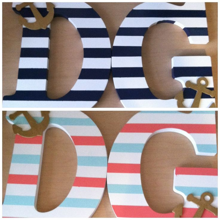 Love the idea of stripes and a little anchor for the nursery