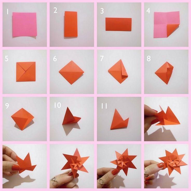 Cara Membuat Hiasan Dinding Kamar Sendiri Dari Kertas Origami Motif Bunga