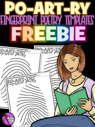 "Get creative with poetry - your students can create poetry on these fingerprint patterns and create their own ""po-art-ry""! These will look wonderful on display when completed too! You can get this for free right now"