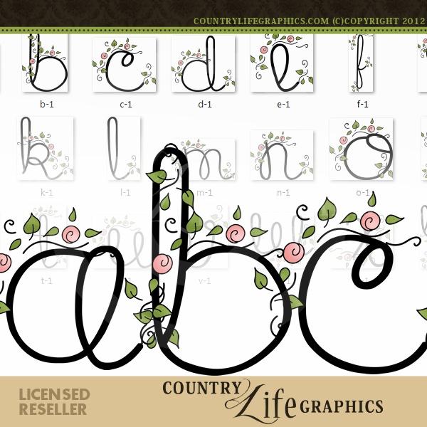 Flourish 1 - Alpha by Country Life Graphics : Digi Web Studio, Clip Art, Printable Crafts & Digital Scrapbooking!