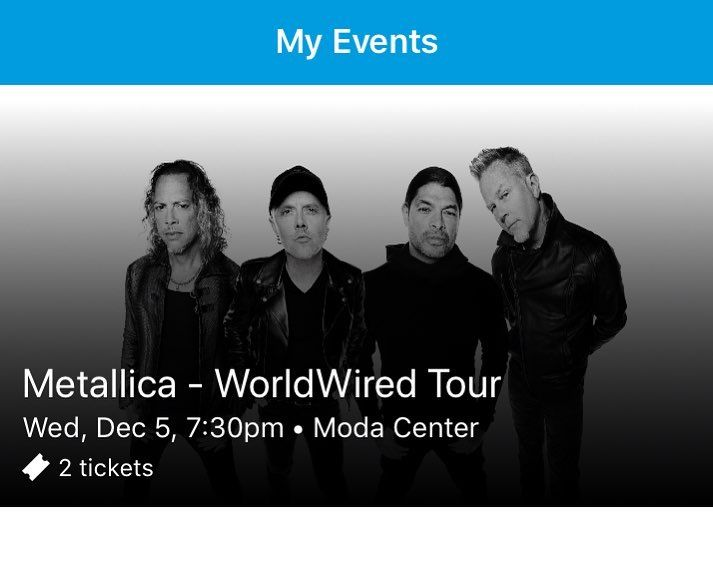 Got my husband @metallica tickets today for December 5 in Portland. I dont think hes ever been so happy. I used my money I was saving up to see @prideofgypsies at Wizard World In Portland next month but I kinda feel like Jason Momoa is the sort of dude who understands that no matter how awesome it is to meet a superhero Metallica coming to town is a must. - Use code witblade at checkout for 10% off Wizard World 2018 tickets!