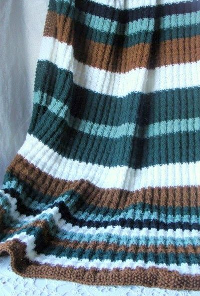 Felted Treasures Knit Afghan For The Manly Man