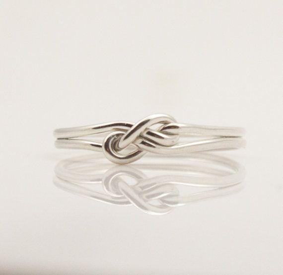 Phantasie unendlich Ring. Einzigartige Freundschaft Ringe, Versprechen, Ring, Brautjungfer Geschenk, Schwester Schmuck. Sterling 925er Silber Infinity ring