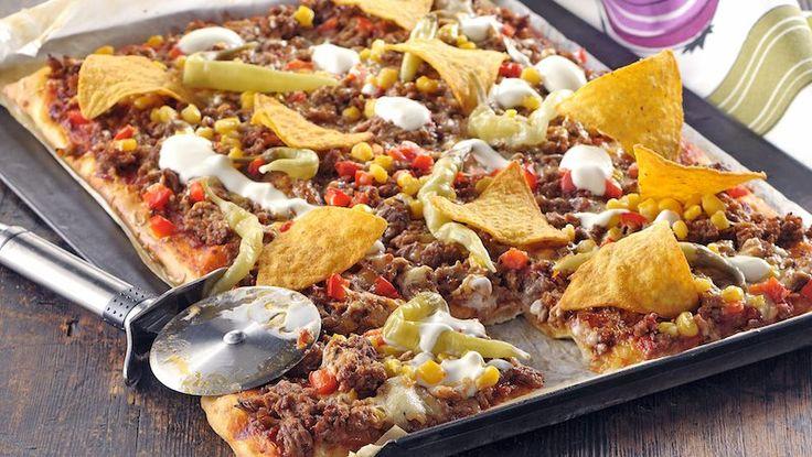 Tacopizza blir snabblagat fredagsmys