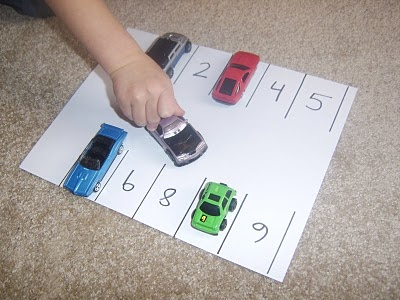 parking lot numbers Give them cards with tally marks, ten frames, dice