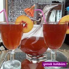 kolay pratik ev yapımı katkısız ice tea şeftali tarifi yapılışı nasıl yapılır, farklı değişik ev yapımı ice tea kokteyl meyve suyu içecek tarifleri