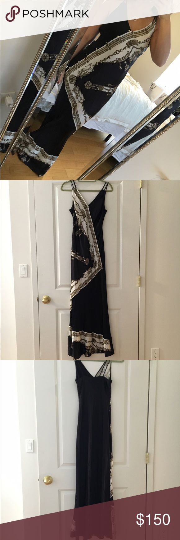 Marchessa voyage silk gown Marchessa voyage black treasure silk scarf maxi dress. Never worn! New with tags. Sooooo soft perfect for a vacation to a gorgeous island. marchessa Dresses