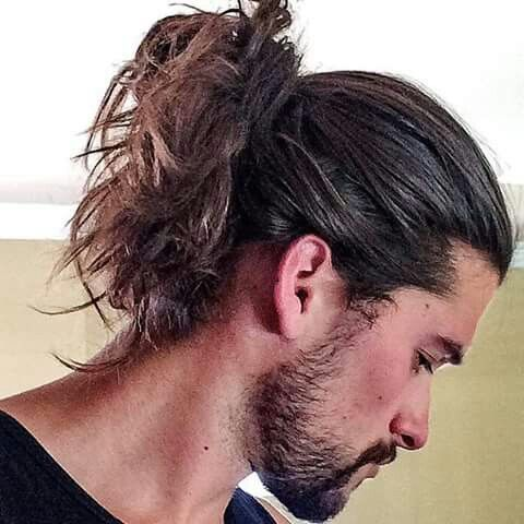 in style hair for guys beard hair bun hair style and mens 4393