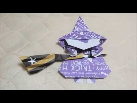 ハロウィン用の飾り 魔女とほうき 折り紙の簡単な折り方|動画 - YouTube