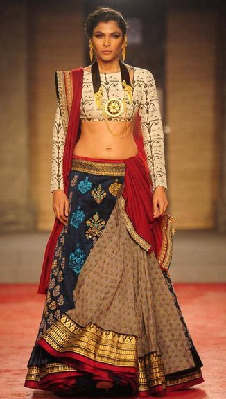 Scarlet Bindi - South Asian Fashion: Delhi Couture Week, Day 1: Anju Modi Sabyasachi