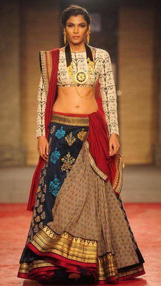 Scarlet Bindi - South Asian Fashion: Delhi Couture Week, Day 1: Anju Modi Sabyasachi