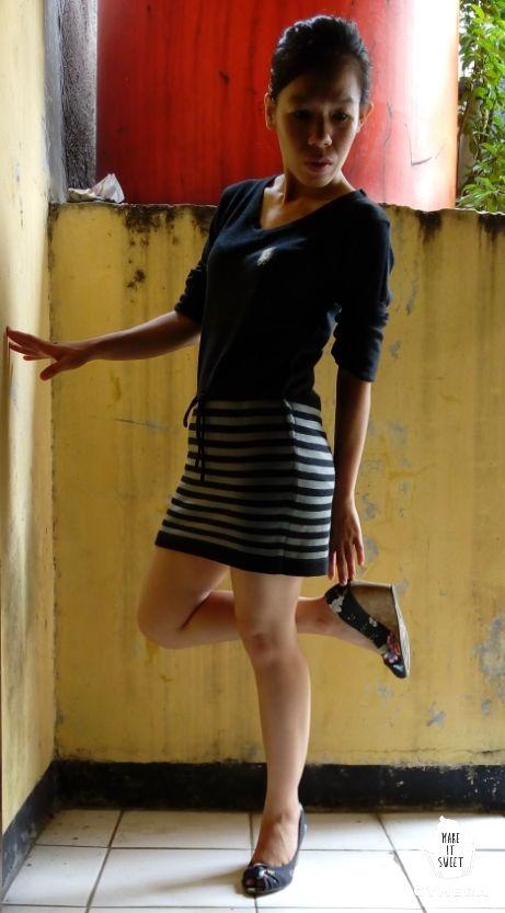 #minidress #rajut #black #wedges