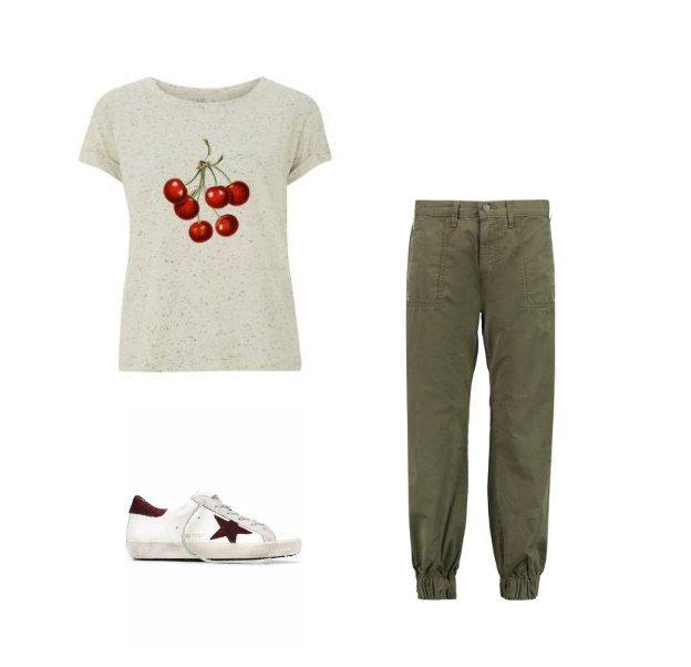 Casual Monday: Ultra Tee tshirt, J BRAND pants, Golden Goose Deluxe Brand sneakers