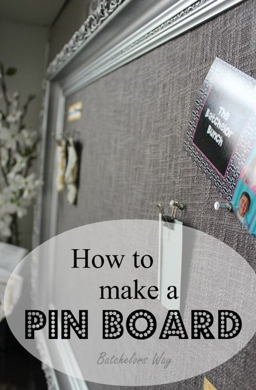 Make an elegant Shabby linen covered pin board with this terrific tutorial: http://lesrondabatchelor.blogspot.com/2013/02/office-redo-pin-board-of-dreams.html