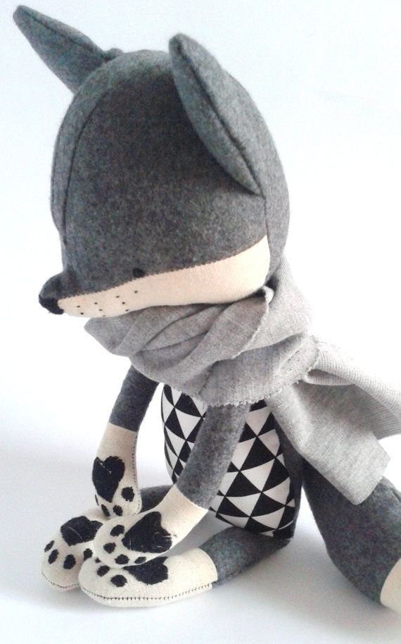 ROBIN the fox. made-to-order. stuffed toy. gift for by LESNE