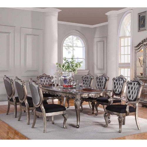 15 Ideas Of Elegant Dining Table Set: Victoria II 9 Piece Dining Set